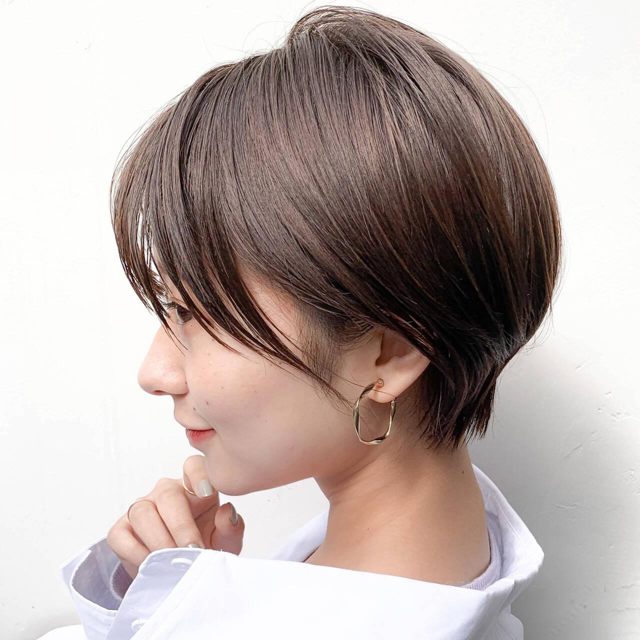 ショートヘア 外国人風カラー 透明感カラー ショートヘアスタイルや髪型の写真・画像
