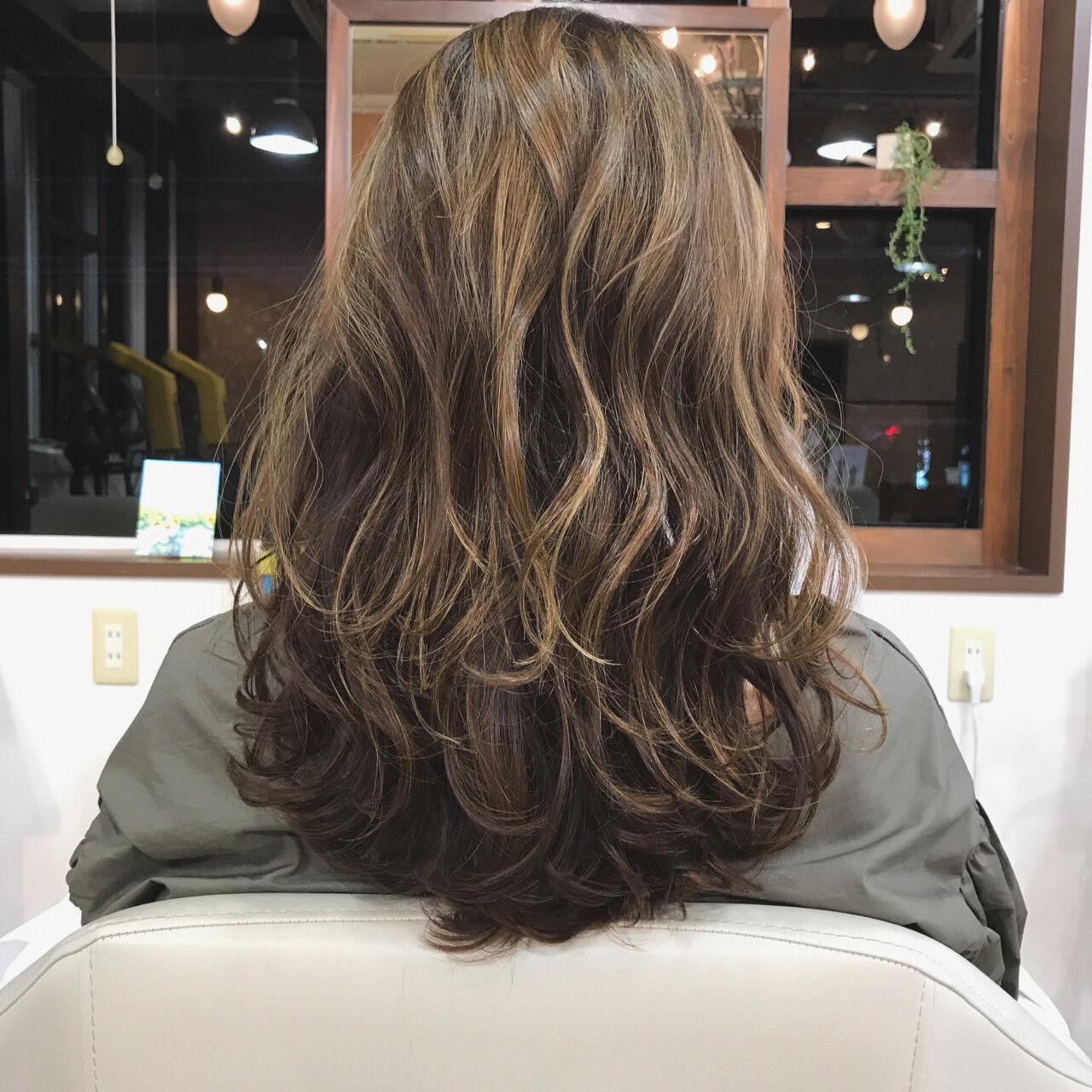 イルミナカラー ナチュラル アッシュグレージュ ハイライトヘアスタイルや髪型の写真・画像
