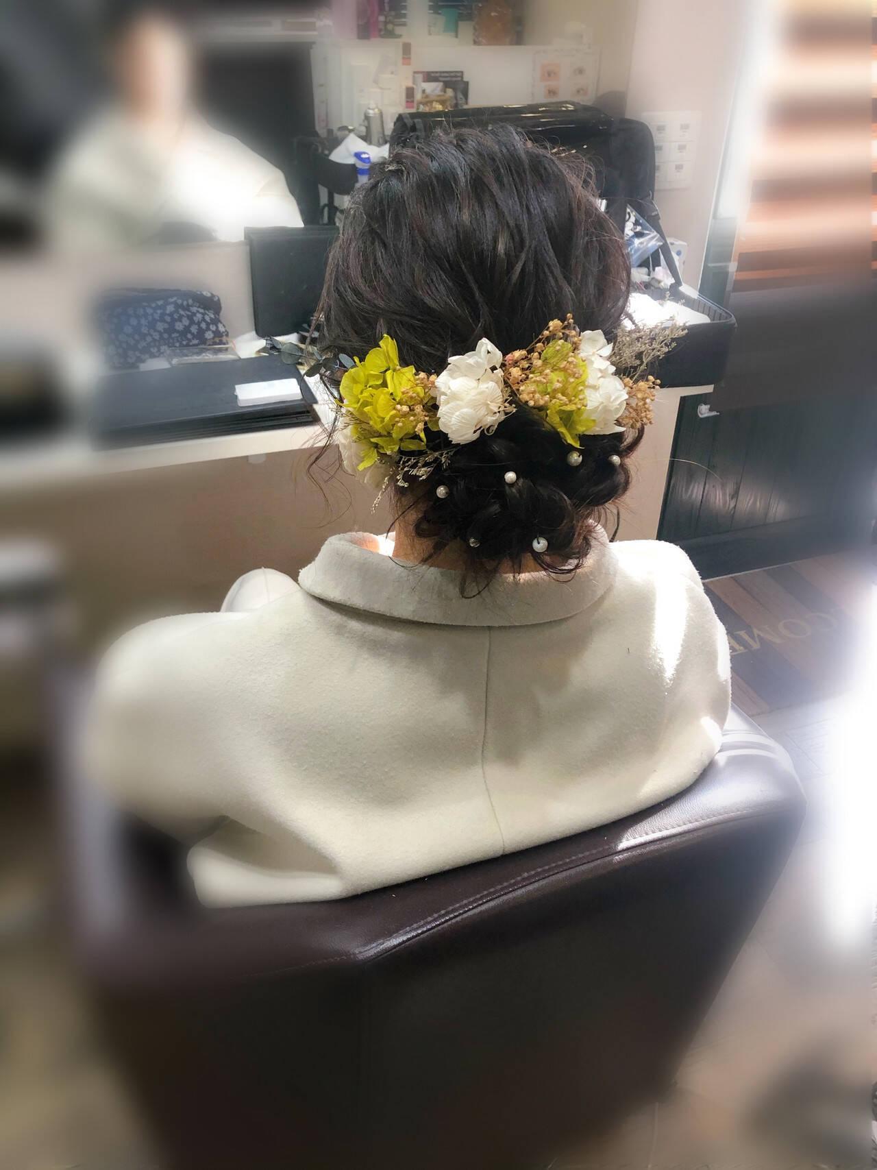 成人式 アップスタイル ヘアセット 成人式ヘアヘアスタイルや髪型の写真・画像