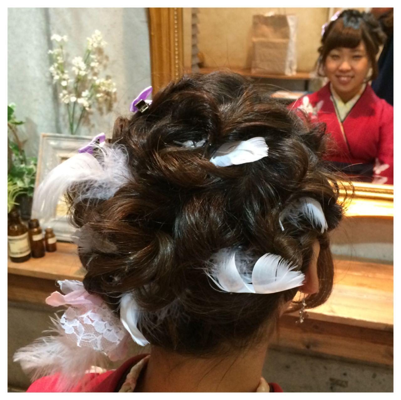 コンサバ ヘアアクセ 成人式 ヘアアレンジヘアスタイルや髪型の写真・画像