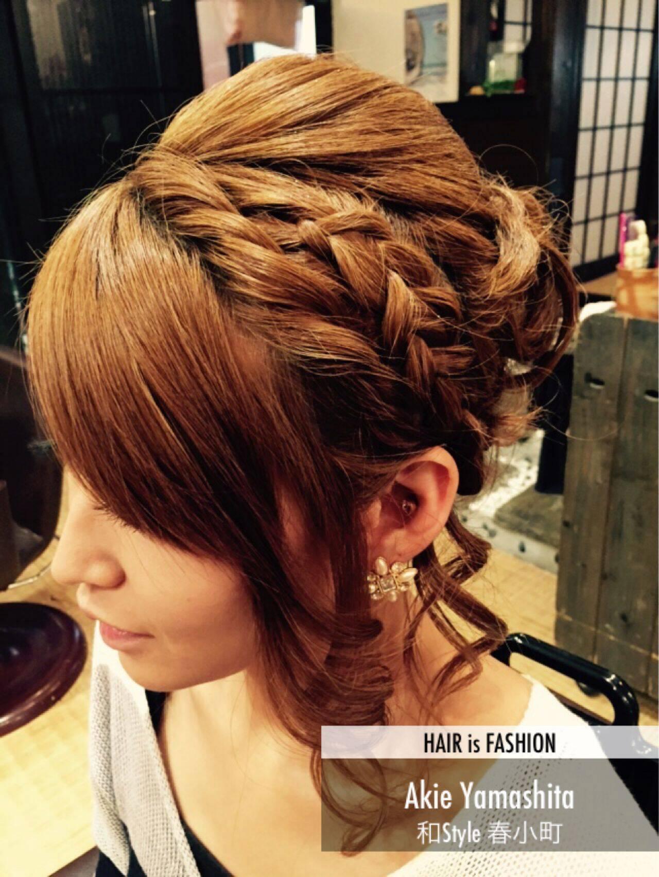 ヘアアレンジ ガーリー 愛され まとめ髪ヘアスタイルや髪型の写真・画像