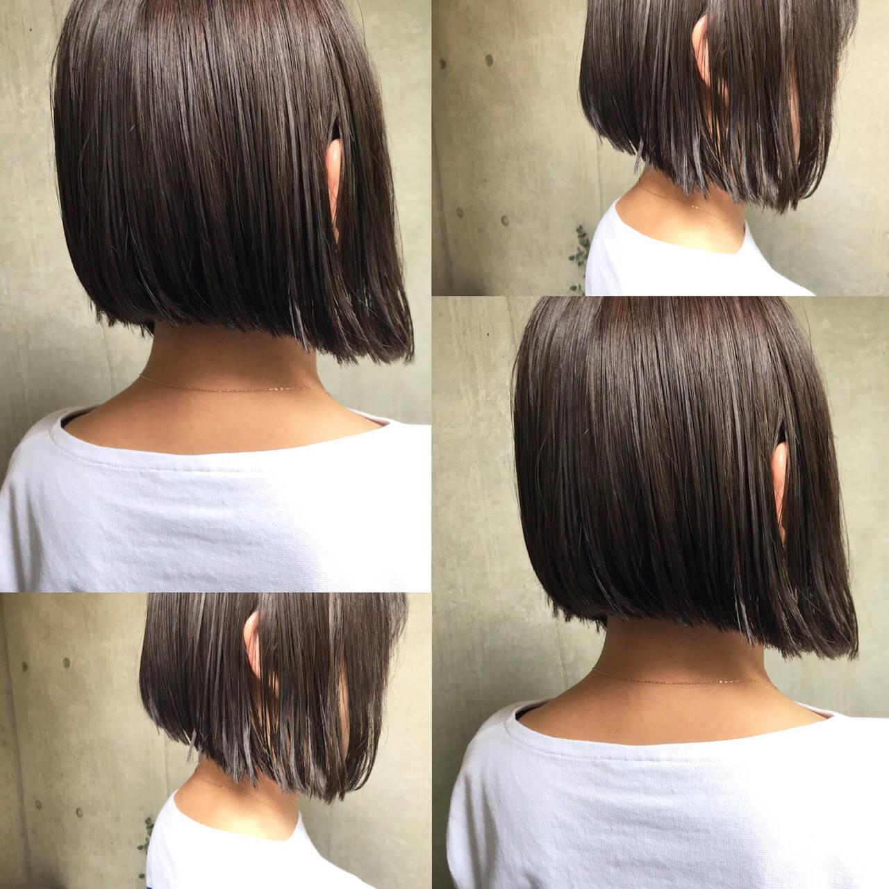 ヘアアレンジ アウトドア ボブ オフィスヘアスタイルや髪型の写真・画像