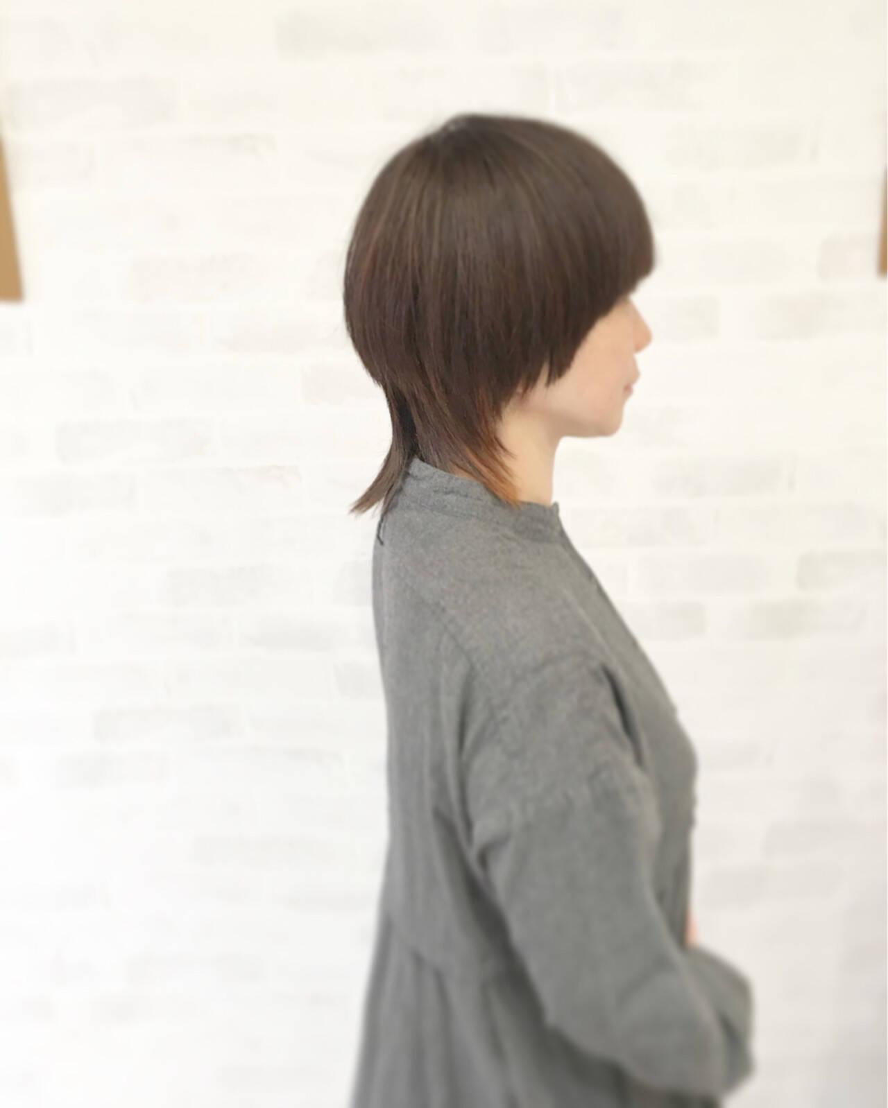 ショート ストリート マッシュ ストレートヘアスタイルや髪型の写真・画像