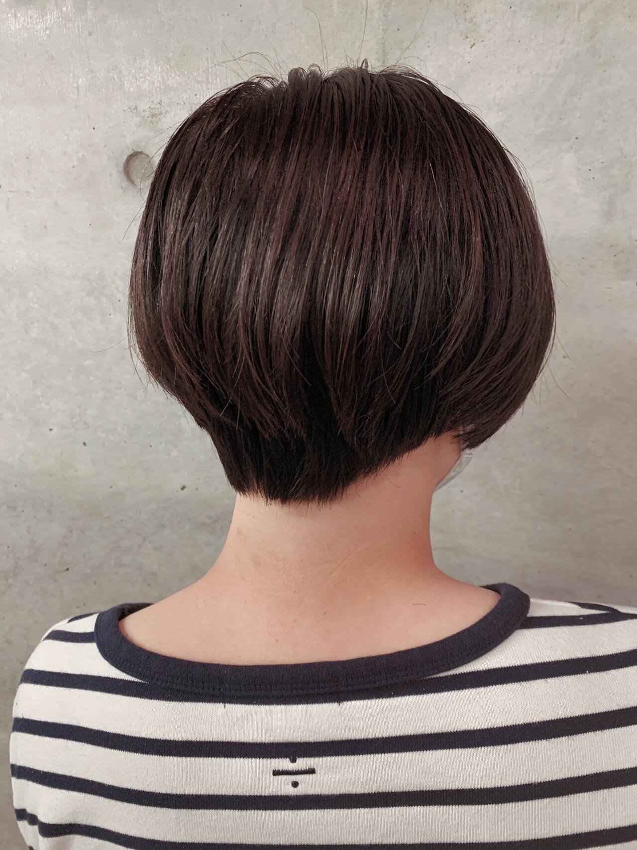 ショートヘア ショート ショートボブ ナチュラルヘアスタイルや髪型の写真・画像