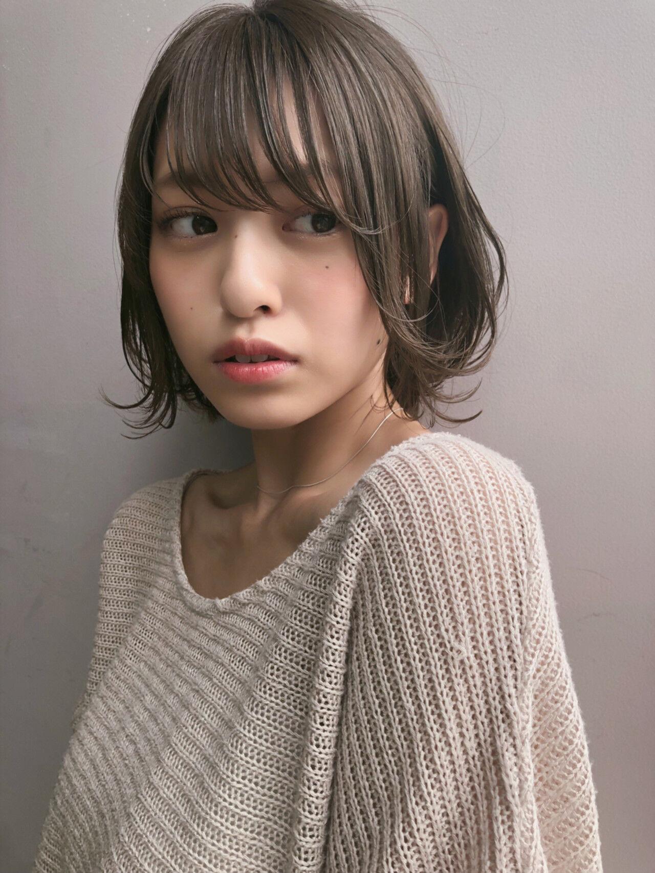 ボブ 女子力 大人女子 透明感ヘアスタイルや髪型の写真・画像