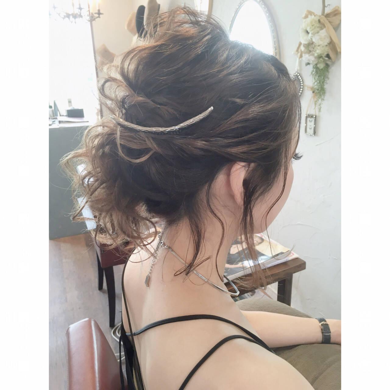 ヘアアレンジ デート ガーリー 簡単ヘアアレンジヘアスタイルや髪型の写真・画像