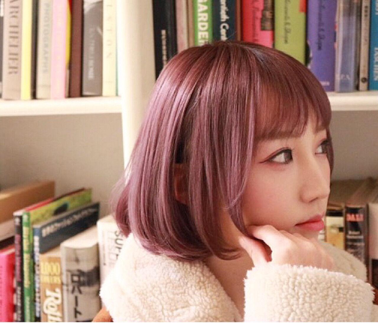 ハイトーン ストリート 外国人風 ボブヘアスタイルや髪型の写真・画像