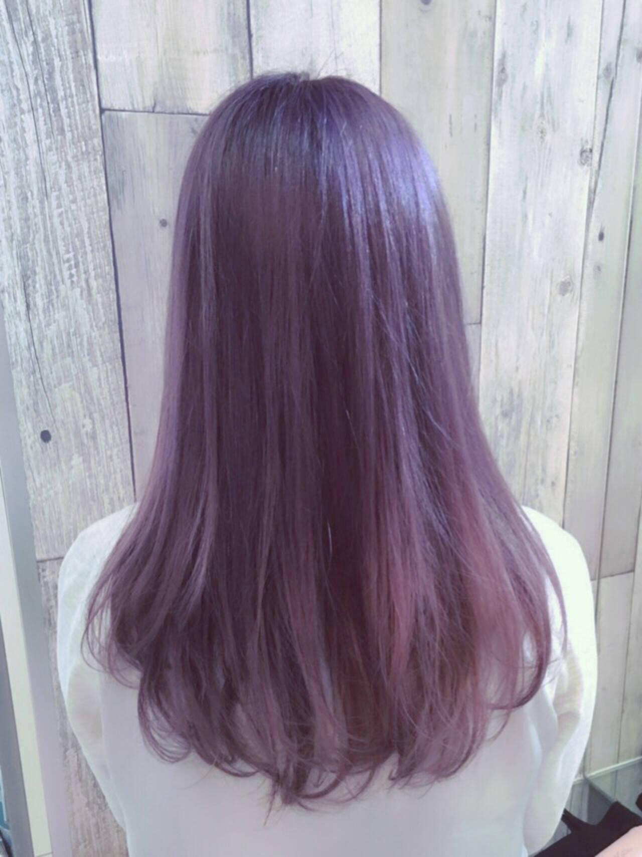 女子ウケ セミロング 透明感カラー 春色ヘアスタイルや髪型の写真・画像