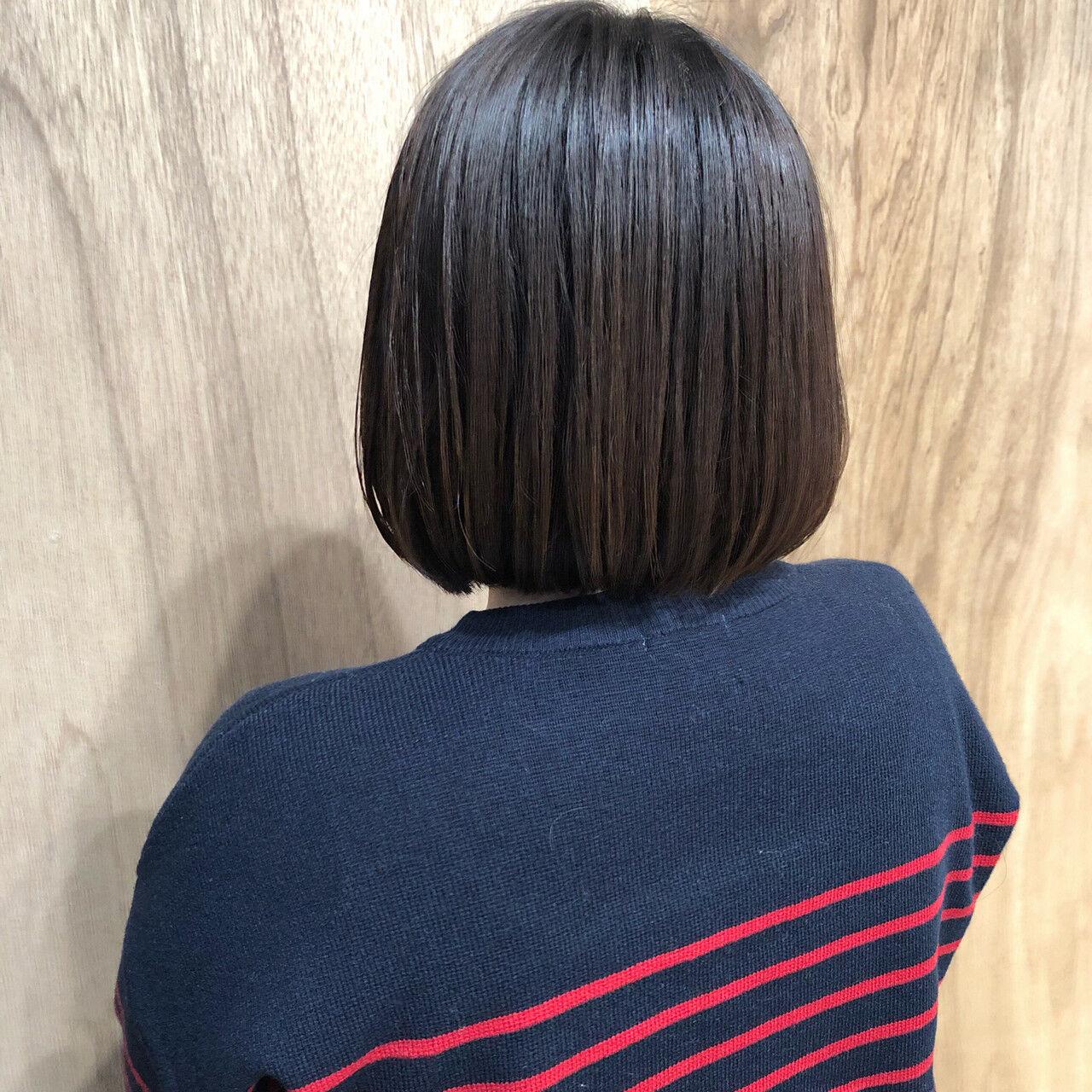 アンニュイほつれヘア ナチュラル ミニボブ ショートボブヘアスタイルや髪型の写真・画像