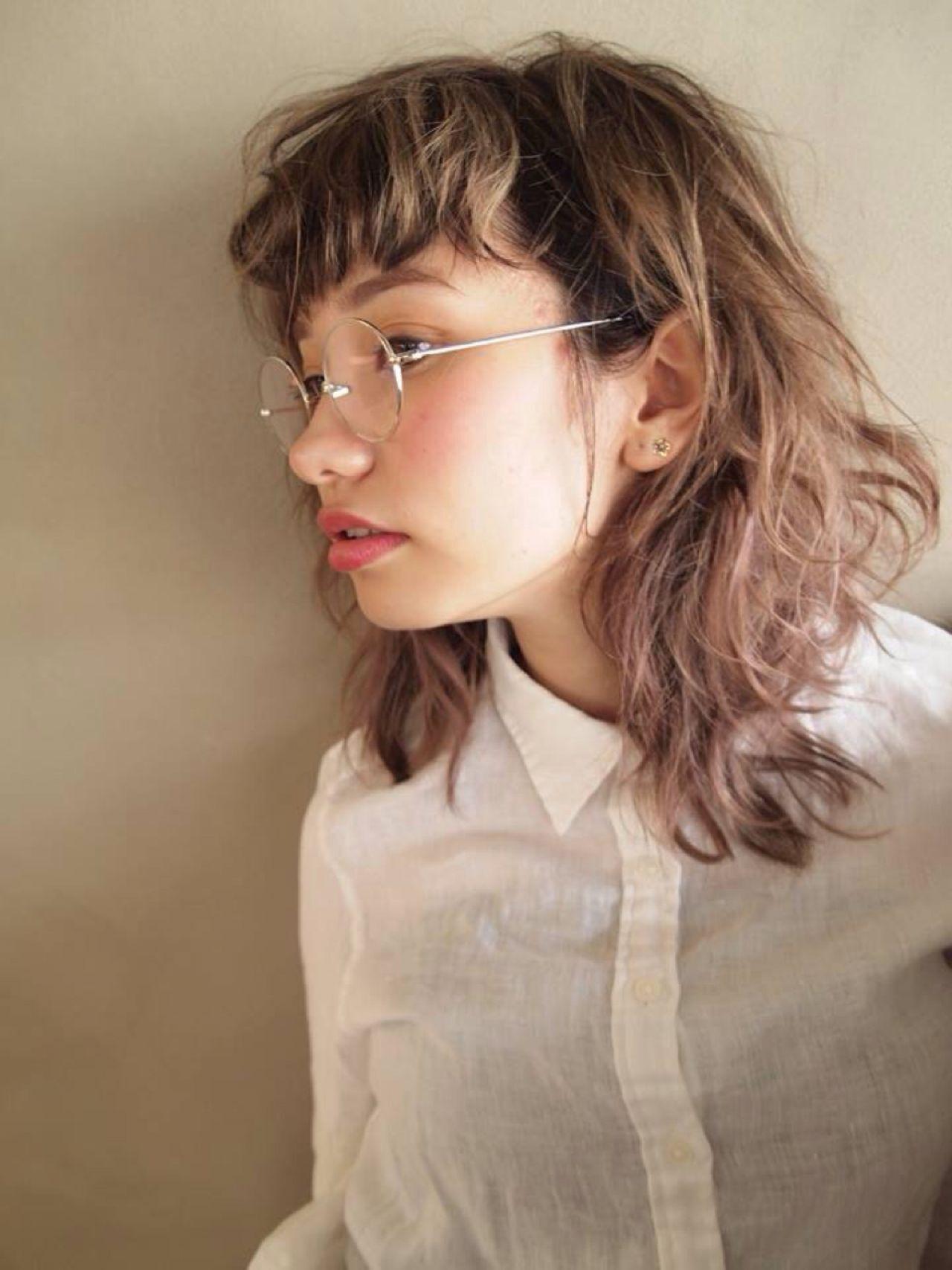 ストリート ガーリー セミロング ウルフカットヘアスタイルや髪型の写真・画像