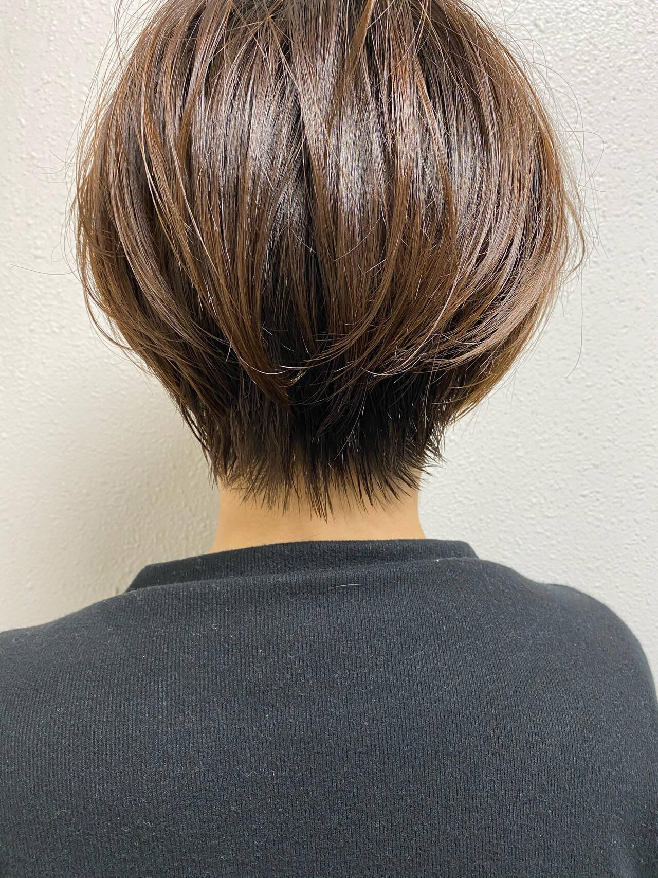 ベリーショート ナチュラル ショートヘア ショートヘアスタイルや髪型の写真・画像