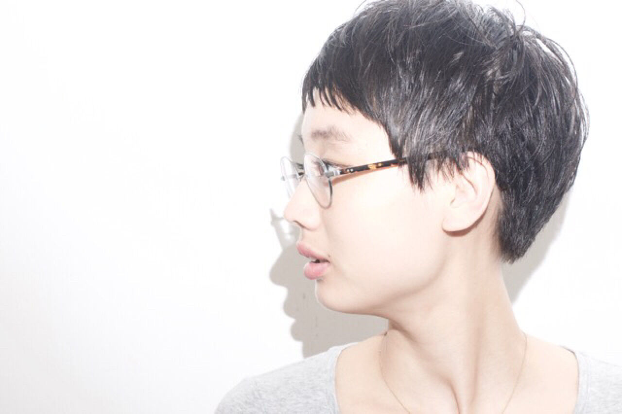 ナチュラル 黒髪 ショート ベリーショートヘアスタイルや髪型の写真・画像