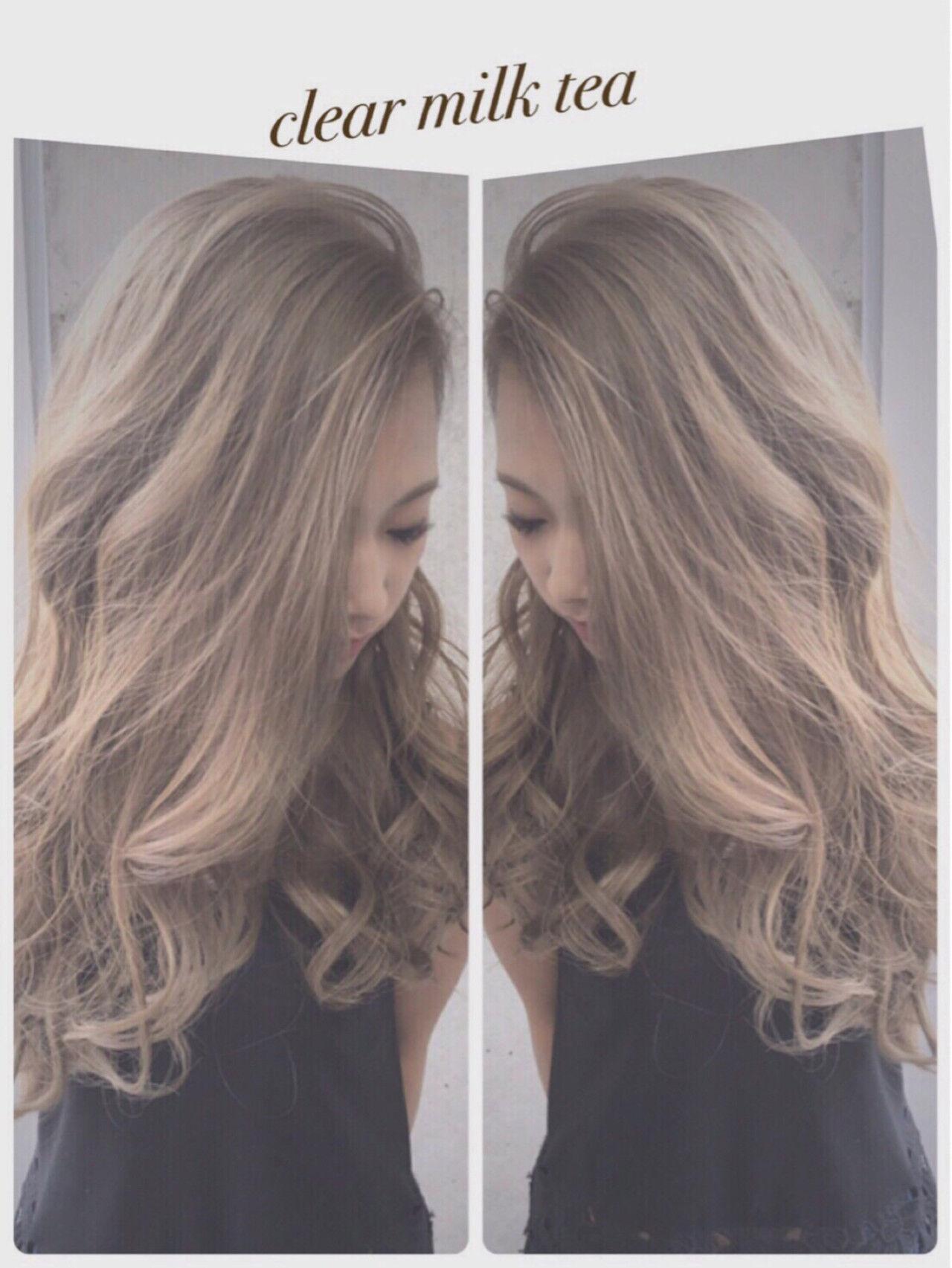ガーリー 外国人風 ミルクティー 渋谷系ヘアスタイルや髪型の写真・画像