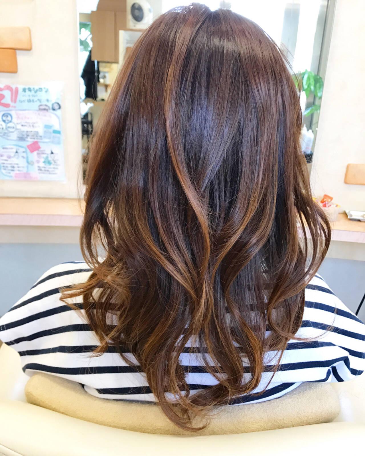 デート バレイヤージュ 外国人風 夏ヘアスタイルや髪型の写真・画像