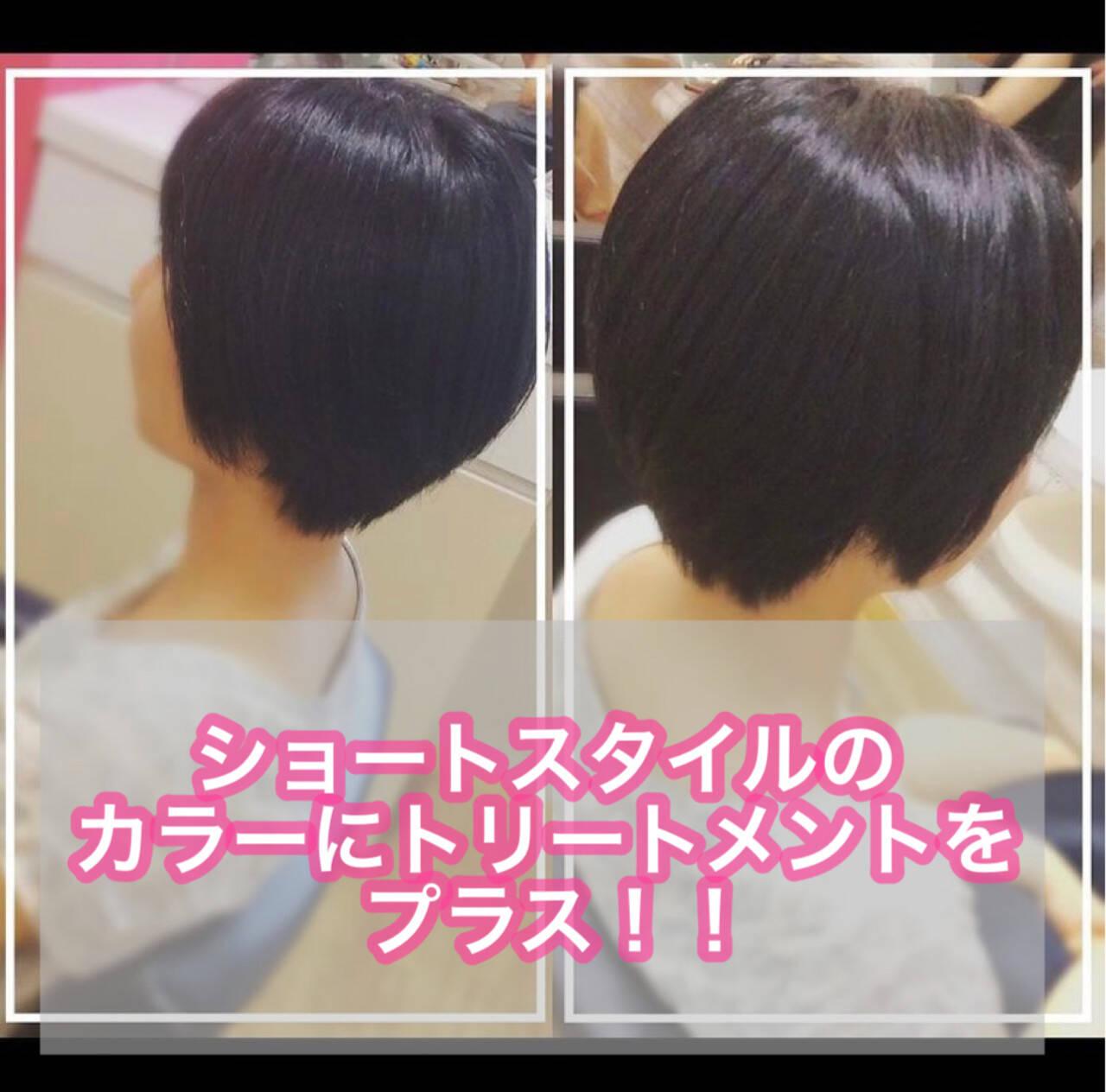 髪質改善トリートメント ベリーショート ショート 髪質改善ヘアスタイルや髪型の写真・画像