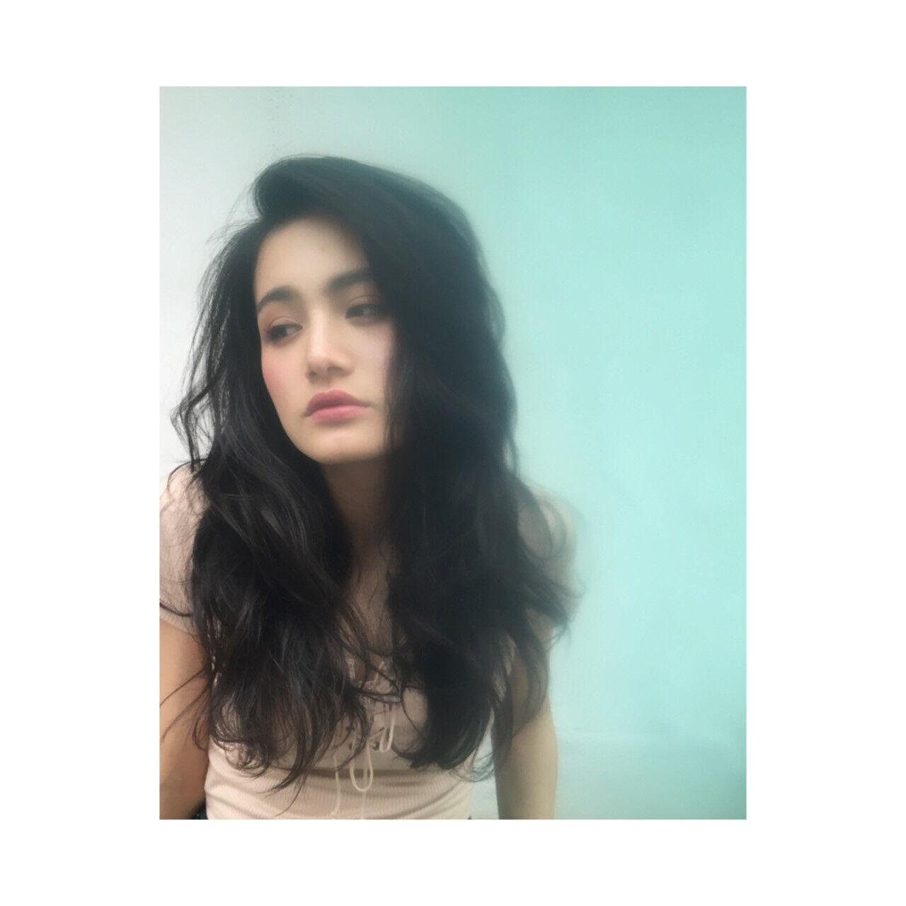 外国人風 グラデーションカラー ロング パーマヘアスタイルや髪型の写真・画像