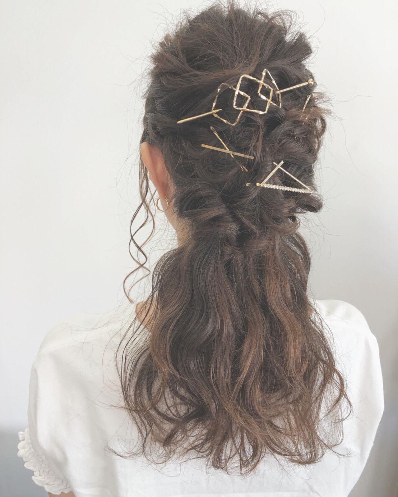 涼しげ 結婚式 パーティ 大人かわいいヘアスタイルや髪型の写真・画像