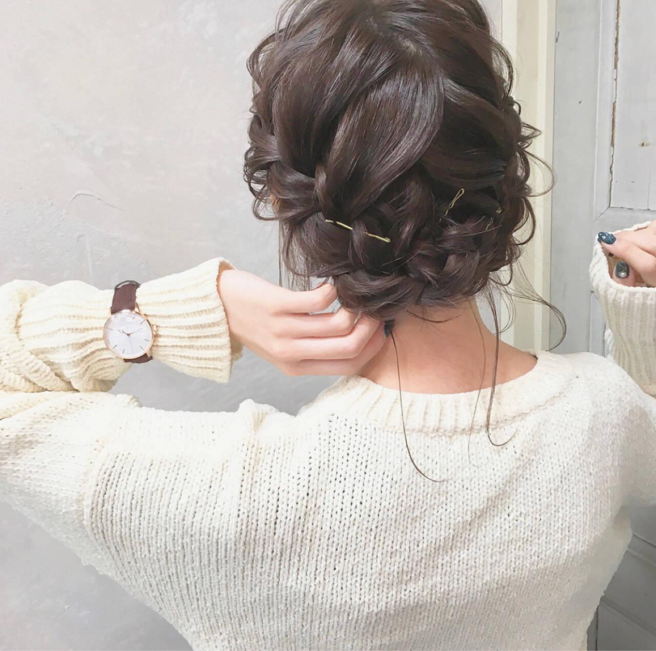 謝恩会 結婚式 成人式 ナチュラルヘアスタイルや髪型の写真・画像
