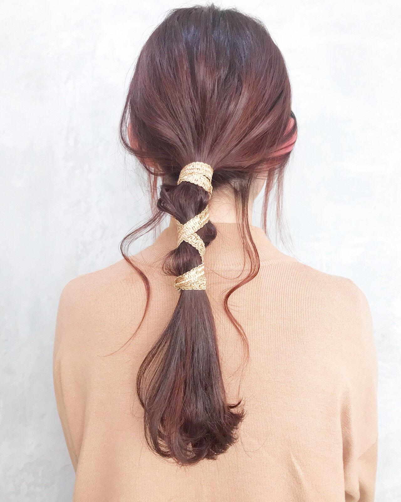 ヘアアレンジ 結婚式 オフィス フェミニンヘアスタイルや髪型の写真・画像
