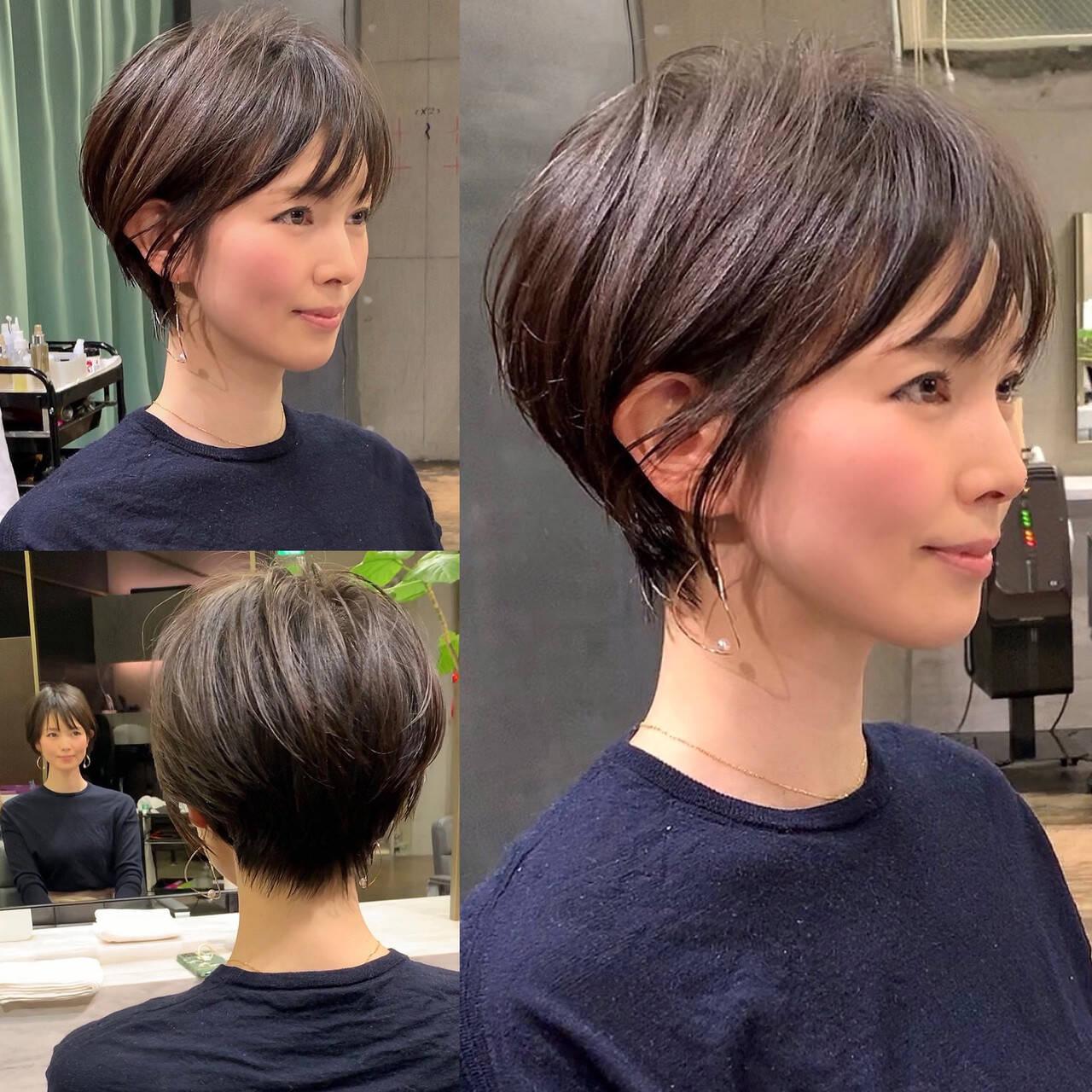 吉瀬美智子 田丸麻紀 30代 ショートボブヘアスタイルや髪型の写真・画像
