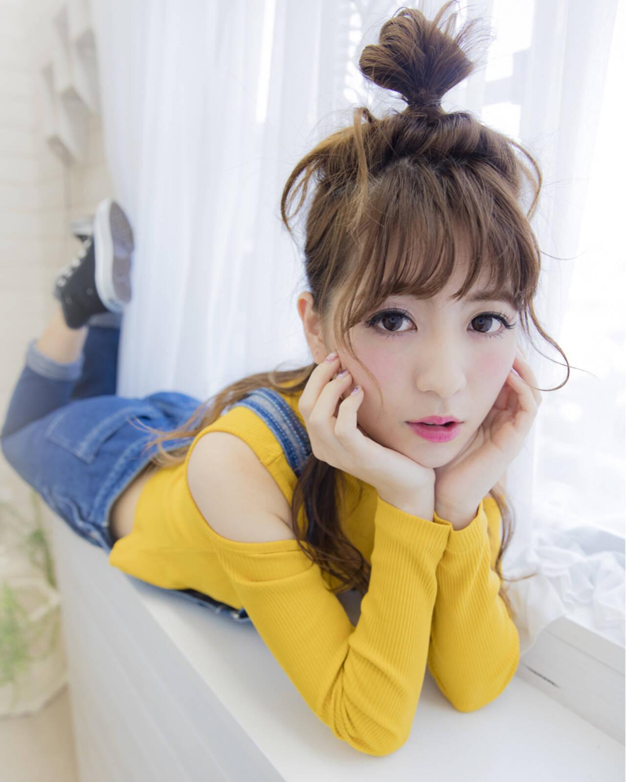ゆるふわ ヘアアレンジ ロング ハーフアップヘアスタイルや髪型の写真・画像