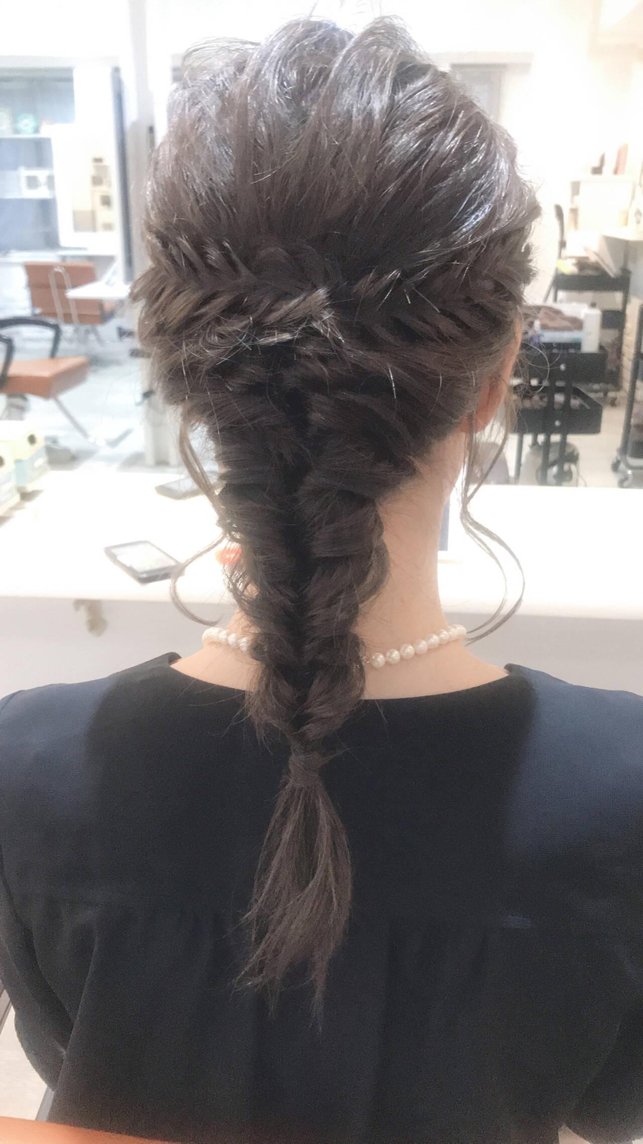 フェミニン セミロング 二次会ヘア ヘアセットヘアスタイルや髪型の写真・画像