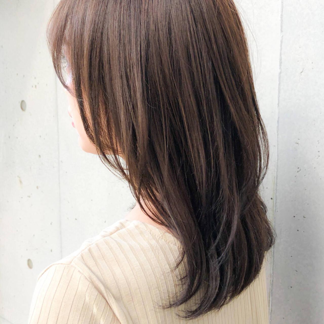 愛され ナチュラル セミロング 大人可愛いヘアスタイルや髪型の写真・画像