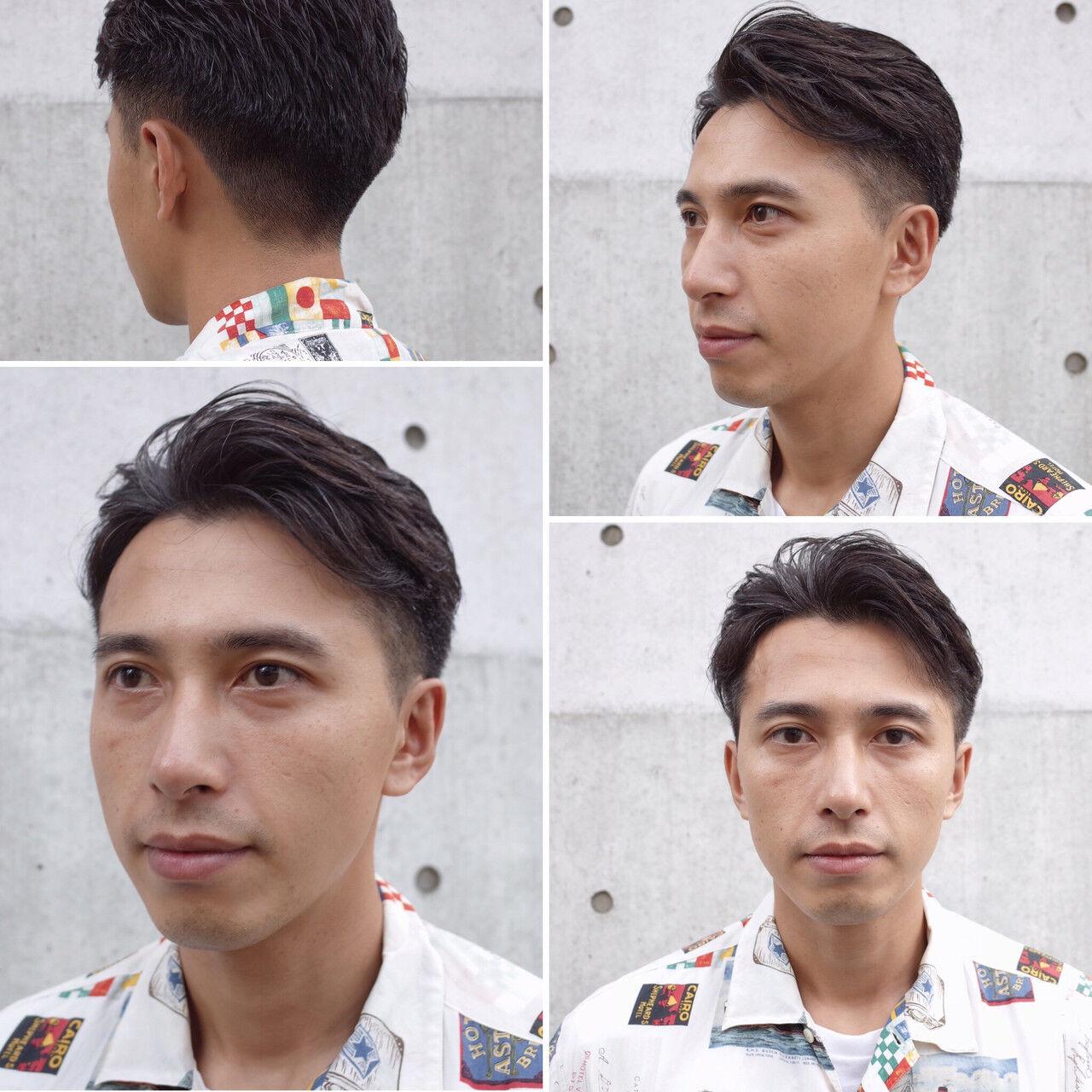 メンズショート ナチュラル ショート ツーブロックヘアスタイルや髪型の写真・画像
