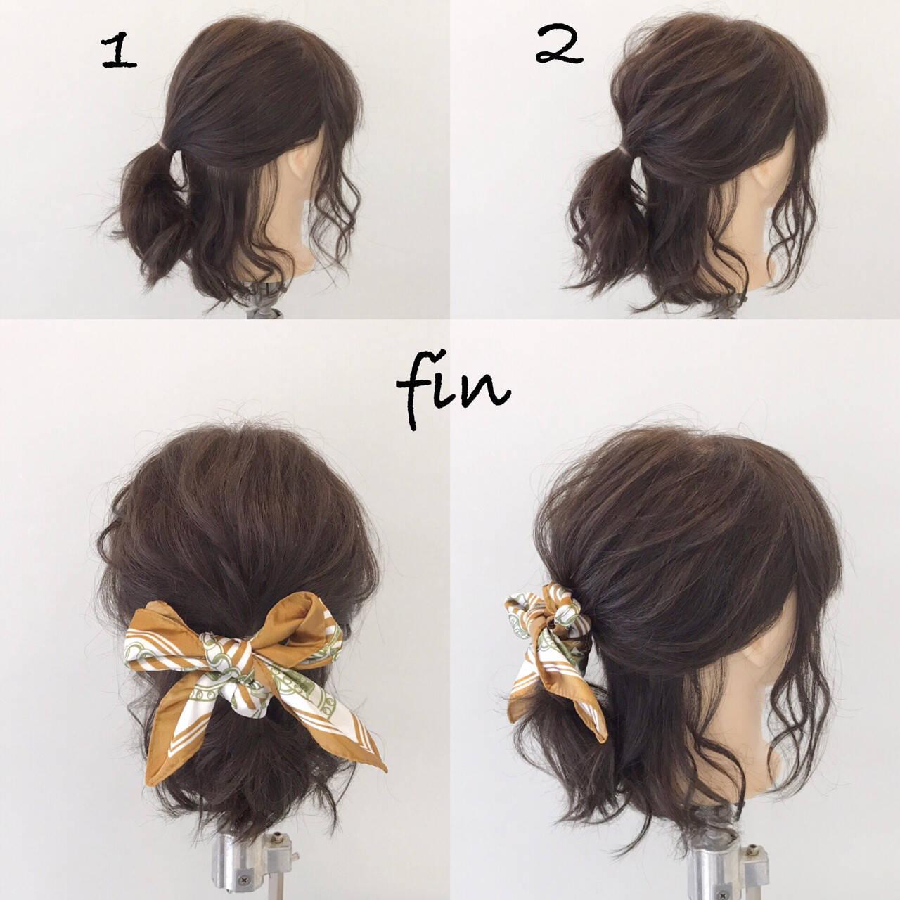 簡単ヘアアレンジ リラックス ヘアアレンジ ナチュラルヘアスタイルや髪型の写真・画像