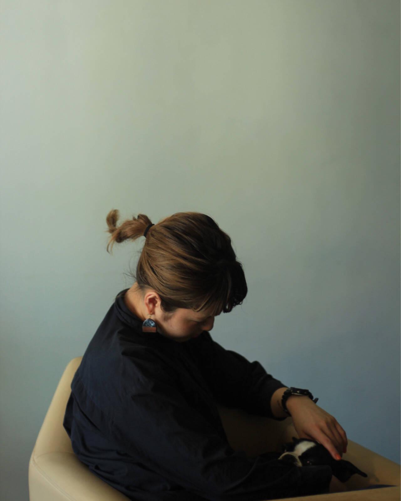 デート ヘアアレンジ 秋 モードヘアスタイルや髪型の写真・画像