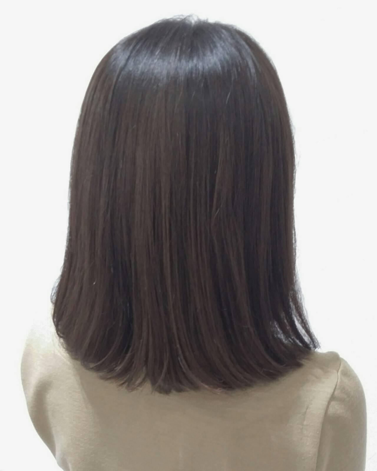 ボブ 色気 暗髪 モードヘアスタイルや髪型の写真・画像