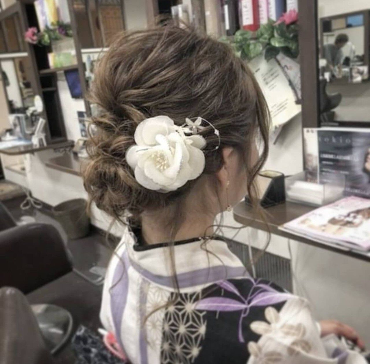 ゆるふわ お祭り 編み込み 夏ヘアスタイルや髪型の写真・画像
