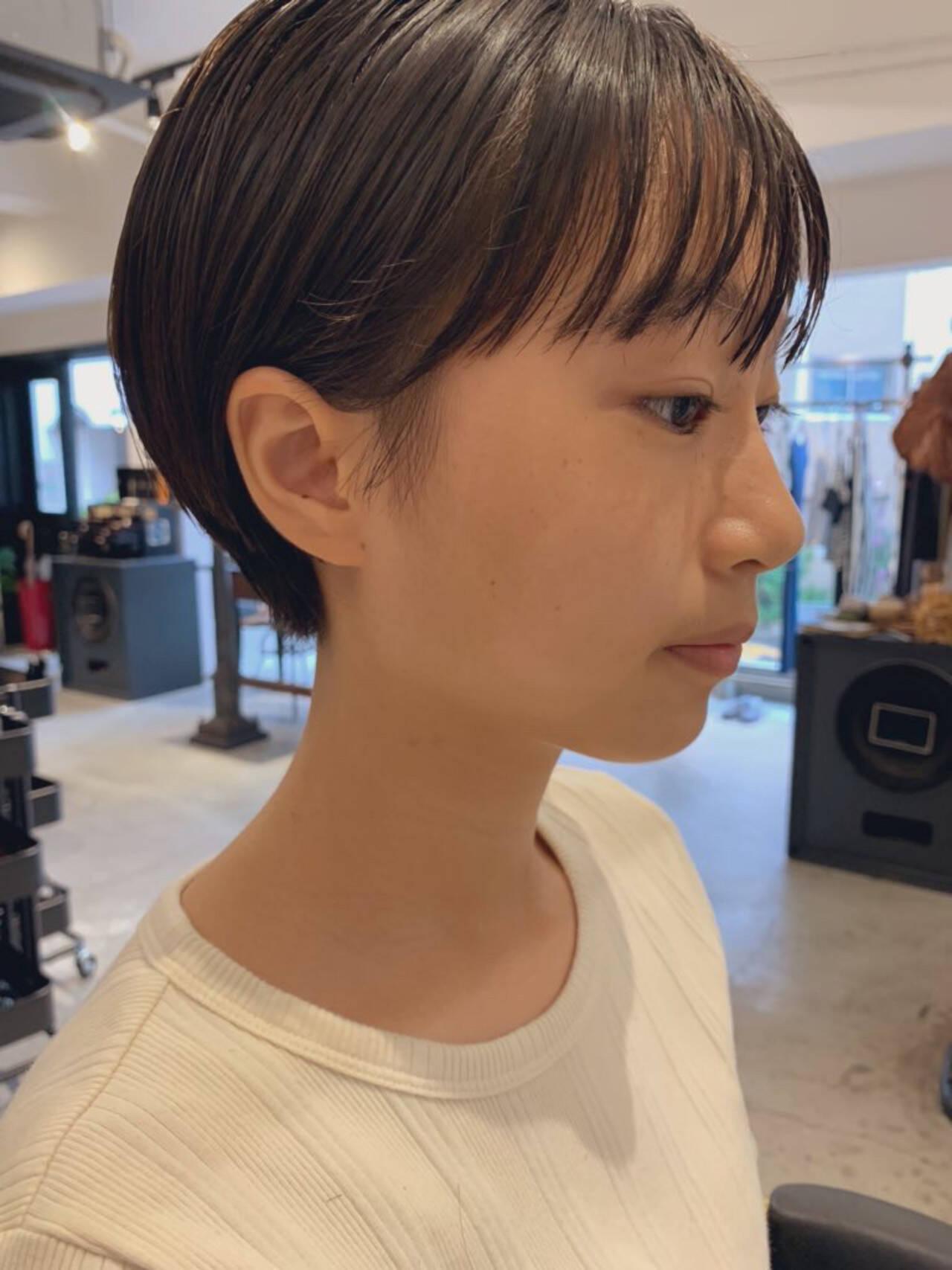 ショートボブ オーガニック ナチュラル ショートヘアスタイルや髪型の写真・画像