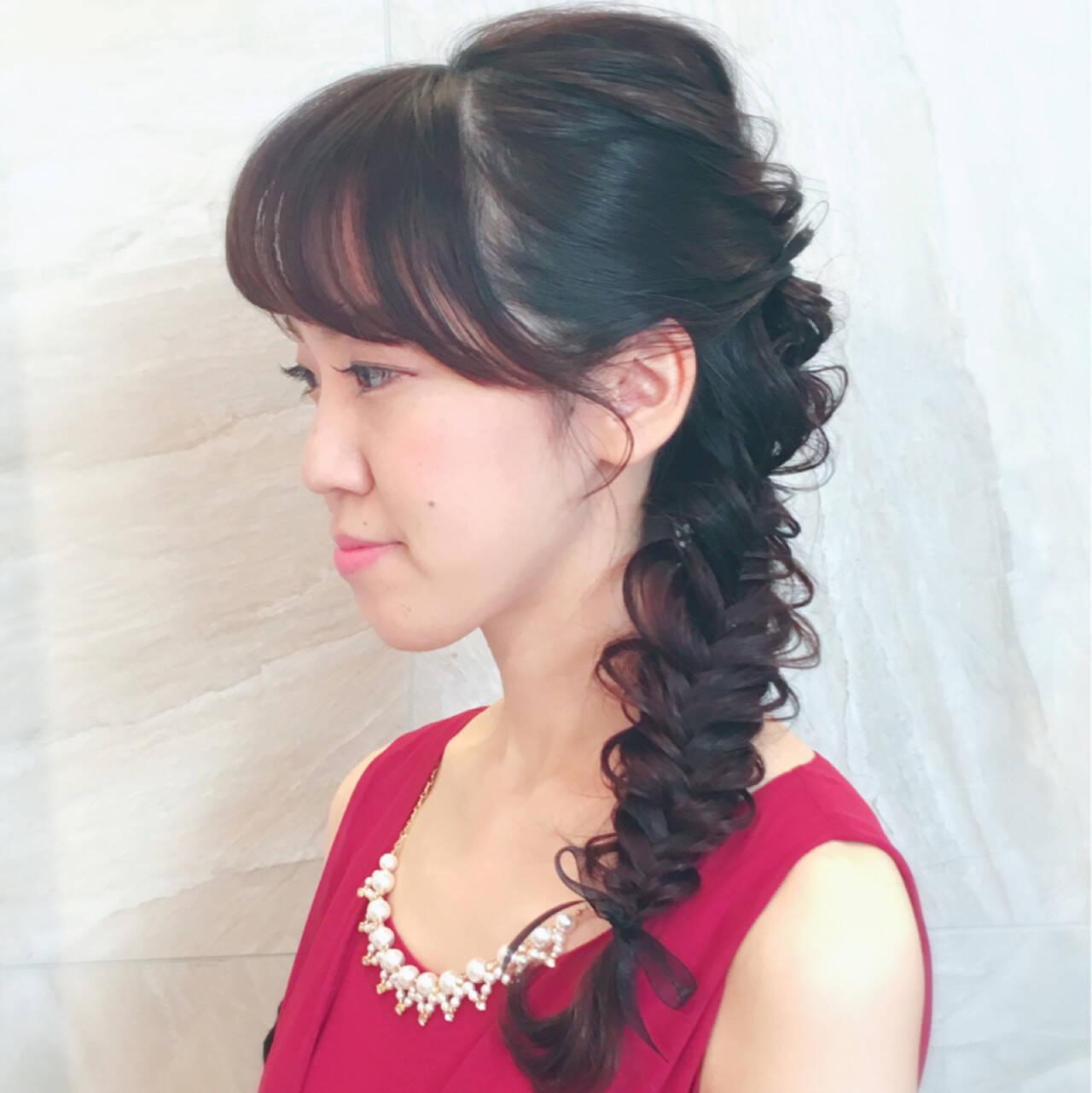 ヘアアレンジ ロング 二次会 かわいいヘアスタイルや髪型の写真・画像
