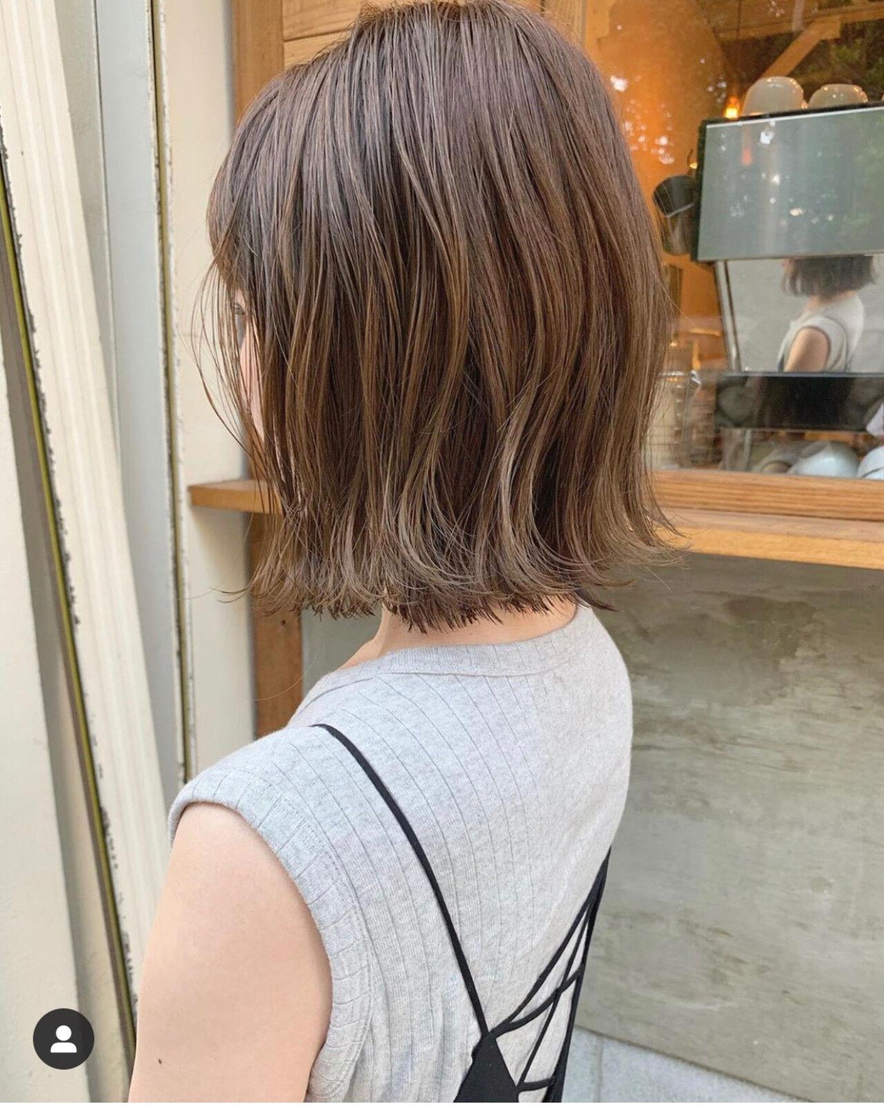 ミニボブ ベリーショート 切りっぱなしボブ ボブヘアスタイルや髪型の写真・画像