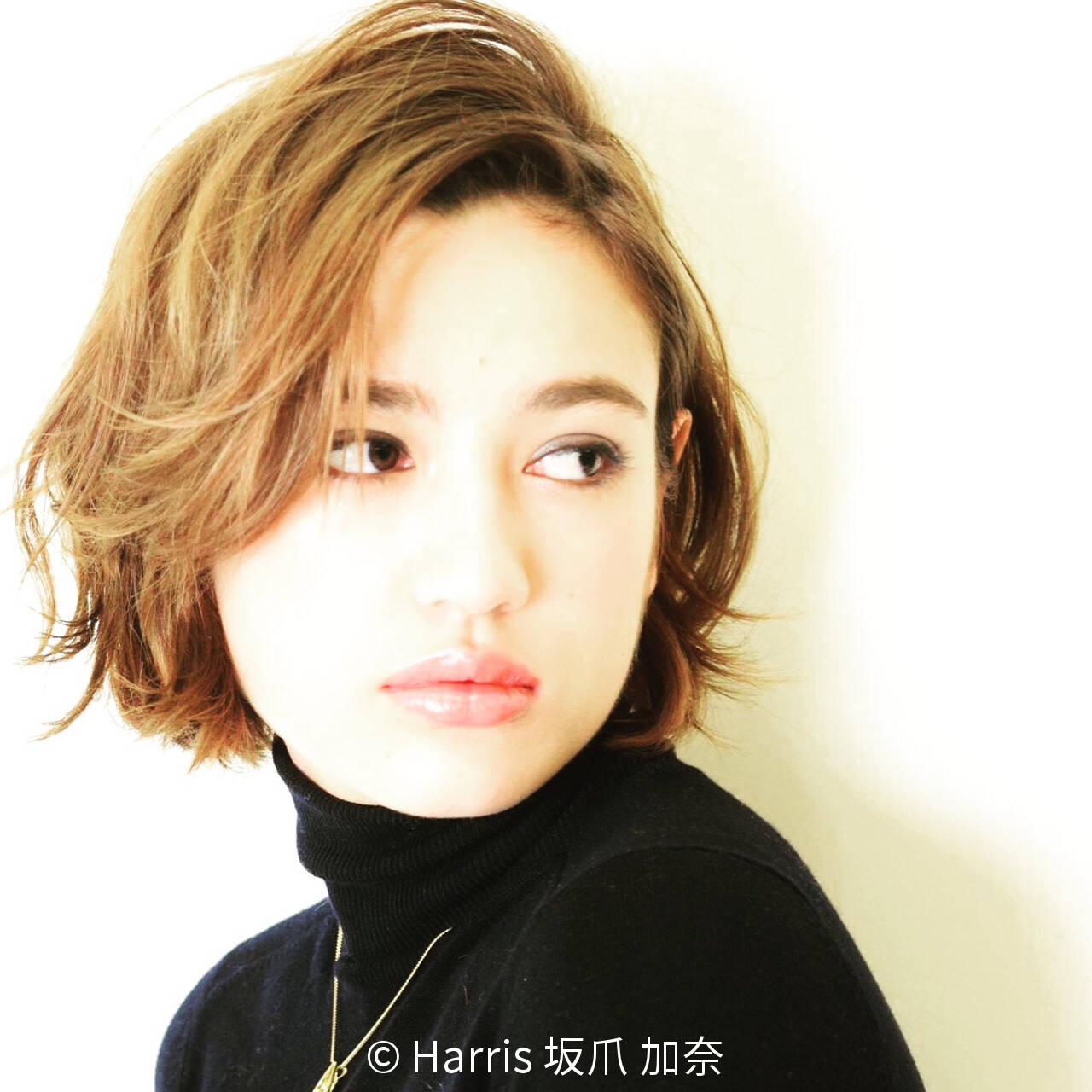 モード ハイライト グラデーションカラー アッシュヘアスタイルや髪型の写真・画像