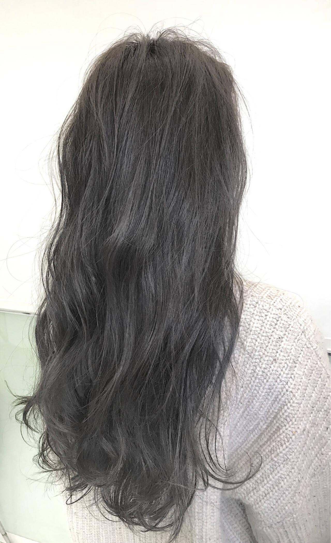 ゆるふわ ハイライト アンニュイほつれヘア ロングヘアスタイルや髪型の写真・画像