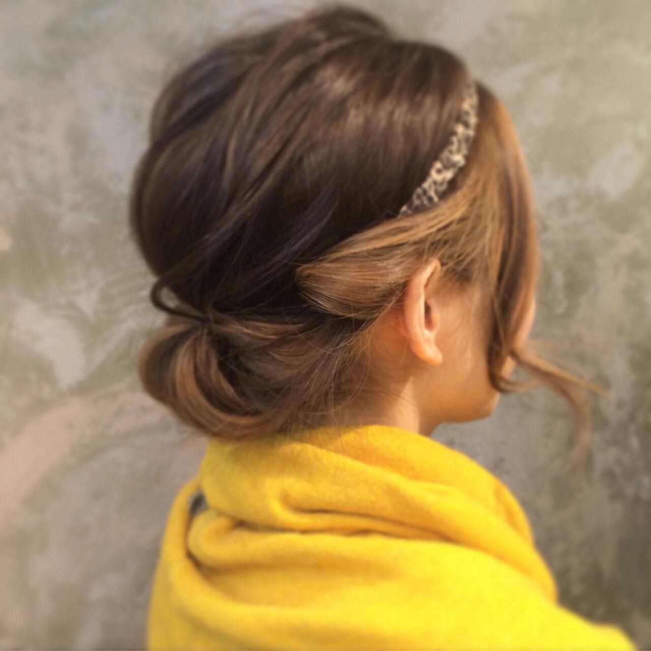 ヘアアレンジ ボブ 簡単ヘアアレンジ ハイライトヘアスタイルや髪型の写真・画像