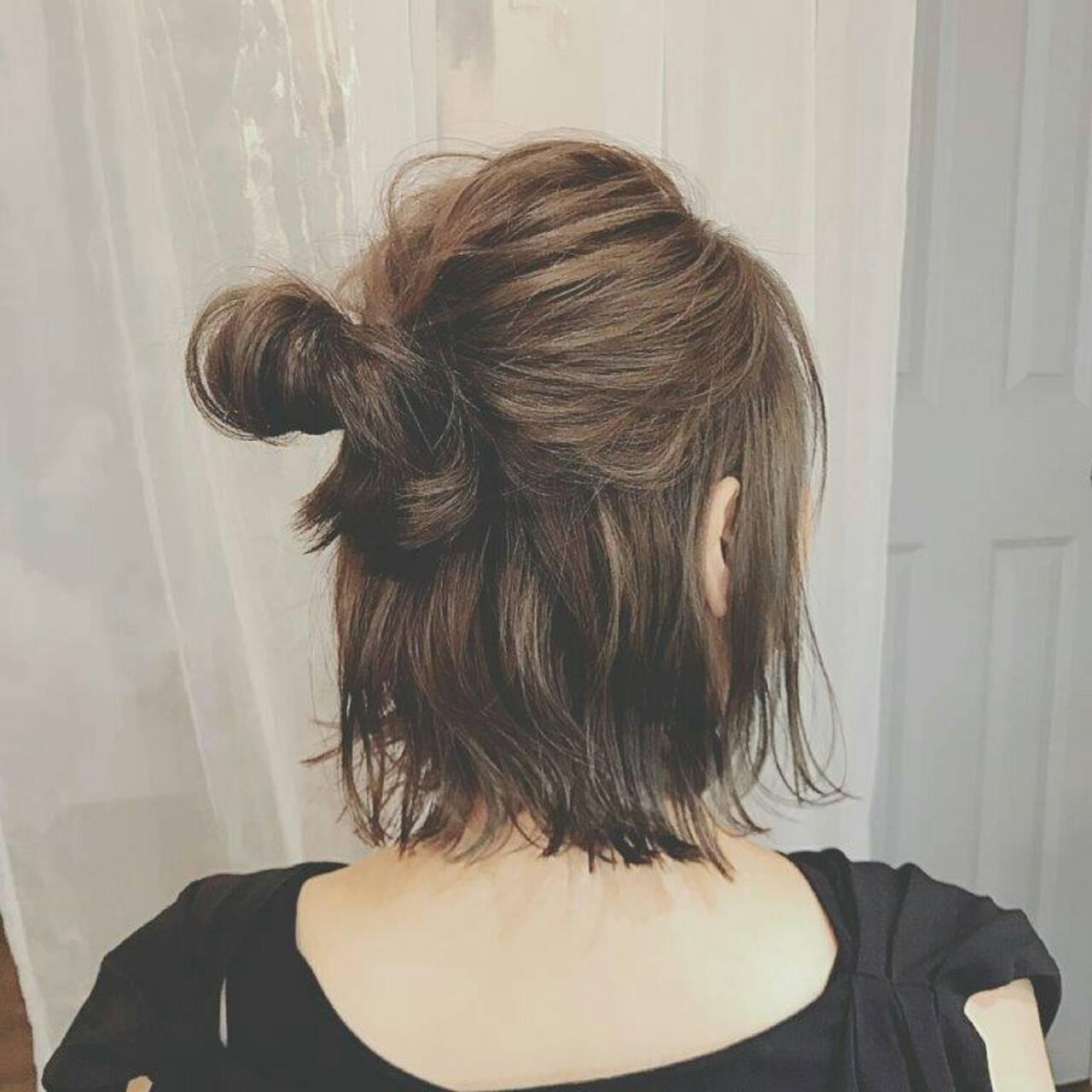 ボブ 冬 秋 フェミニンヘアスタイルや髪型の写真・画像