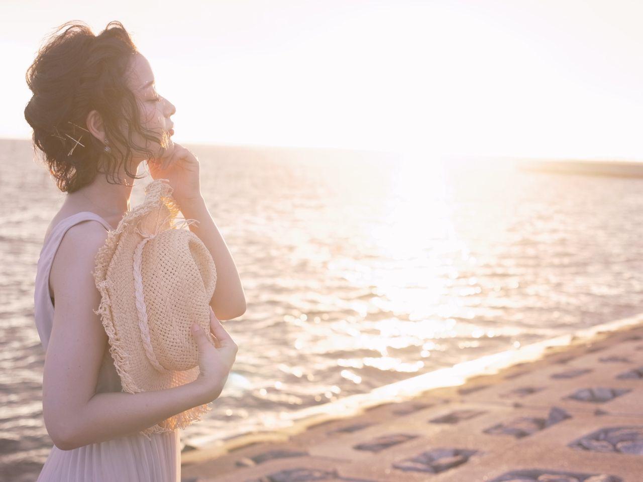 外国人風 ヘアアレンジ ショート マルサラヘアスタイルや髪型の写真・画像