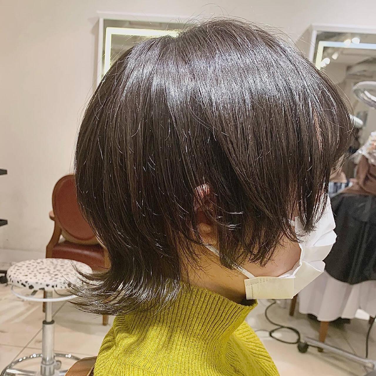 ショートヘア ショートボブ ウルフレイヤー ストリートヘアスタイルや髪型の写真・画像