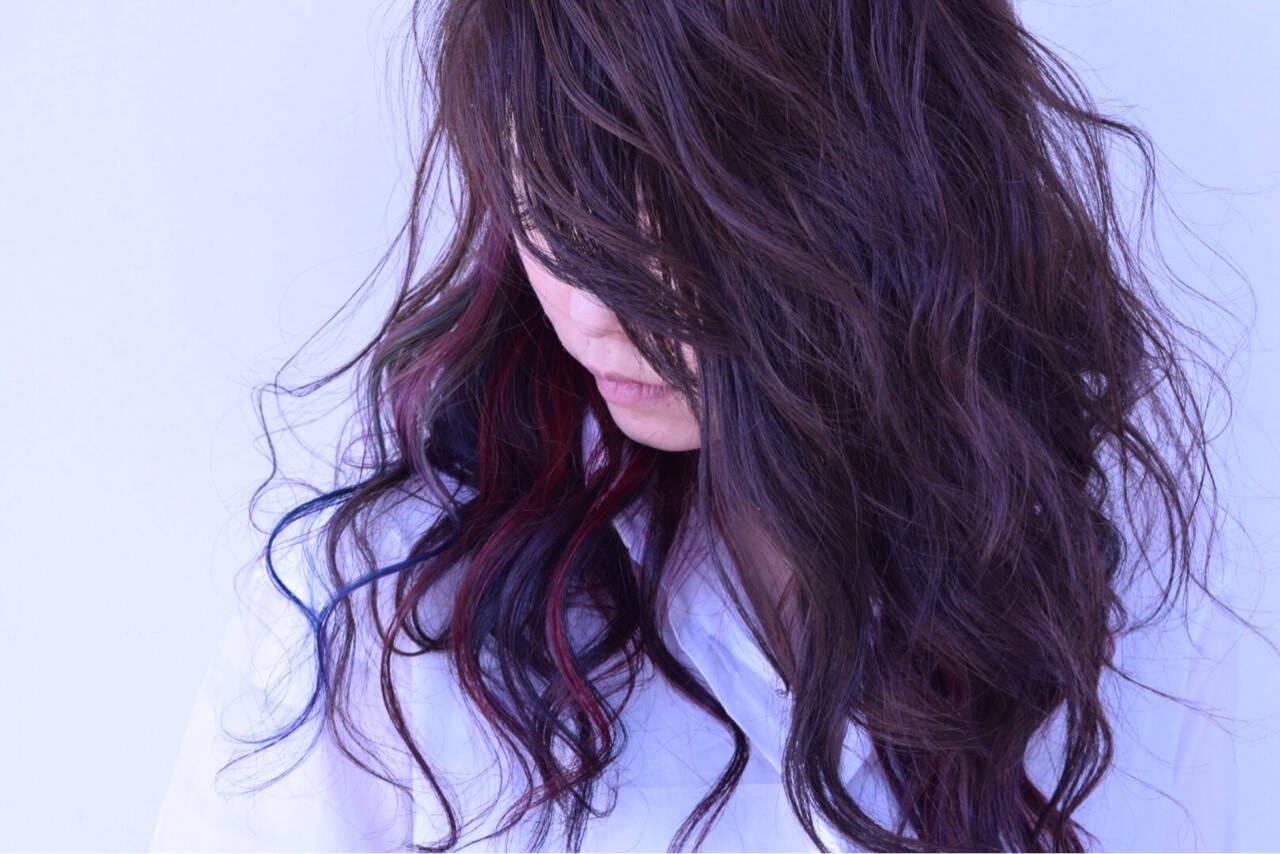 ヘアマニキュア セミロング エレガント 上品ヘアスタイルや髪型の写真・画像