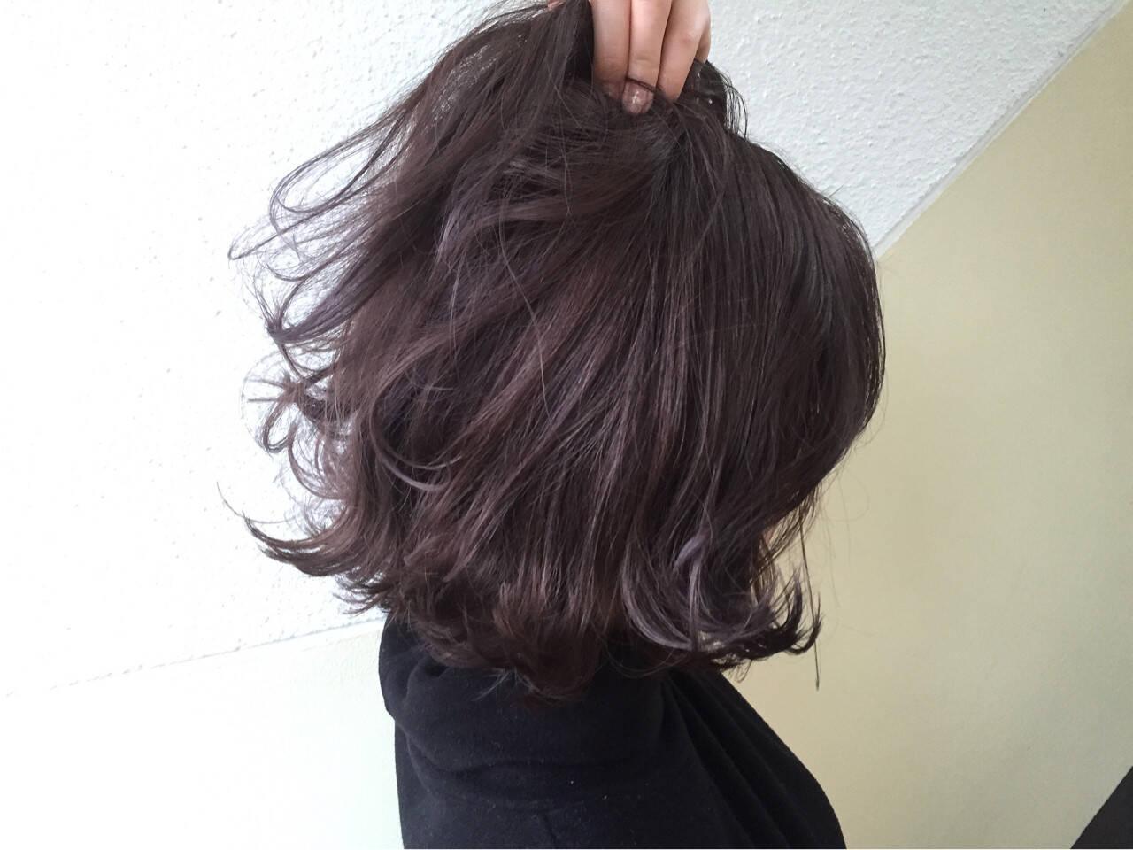 ラベンダー 抜け感 ストリート 外国人風カラーヘアスタイルや髪型の写真・画像