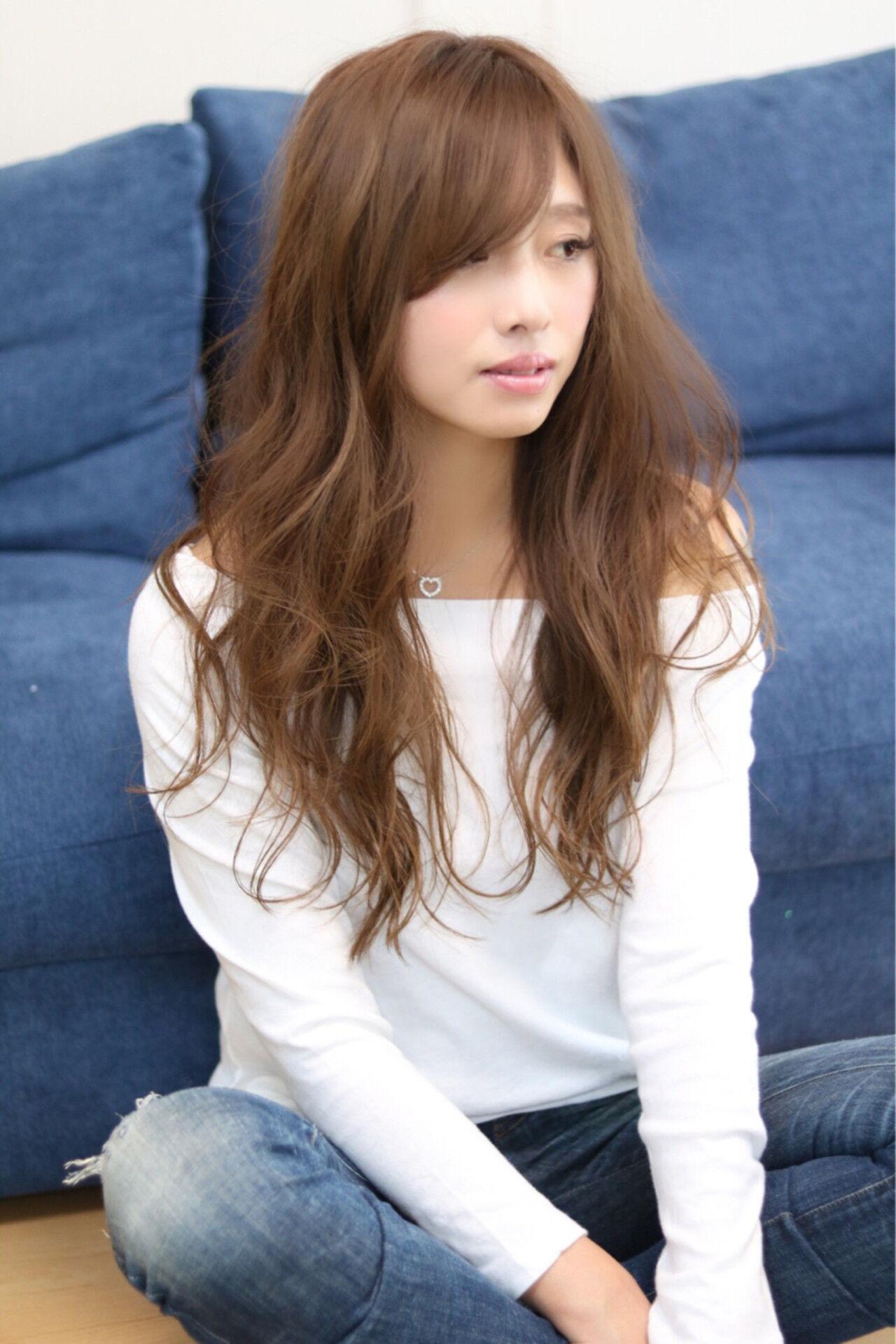 フェミニン 透明感 おフェロ 大人かわいいヘアスタイルや髪型の写真・画像