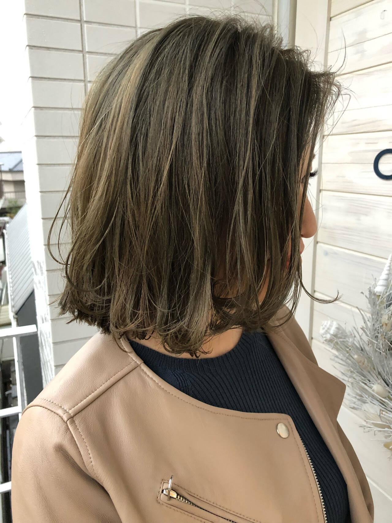 ボブ フェミニン ミディアム ヘアアレンジヘアスタイルや髪型の写真・画像