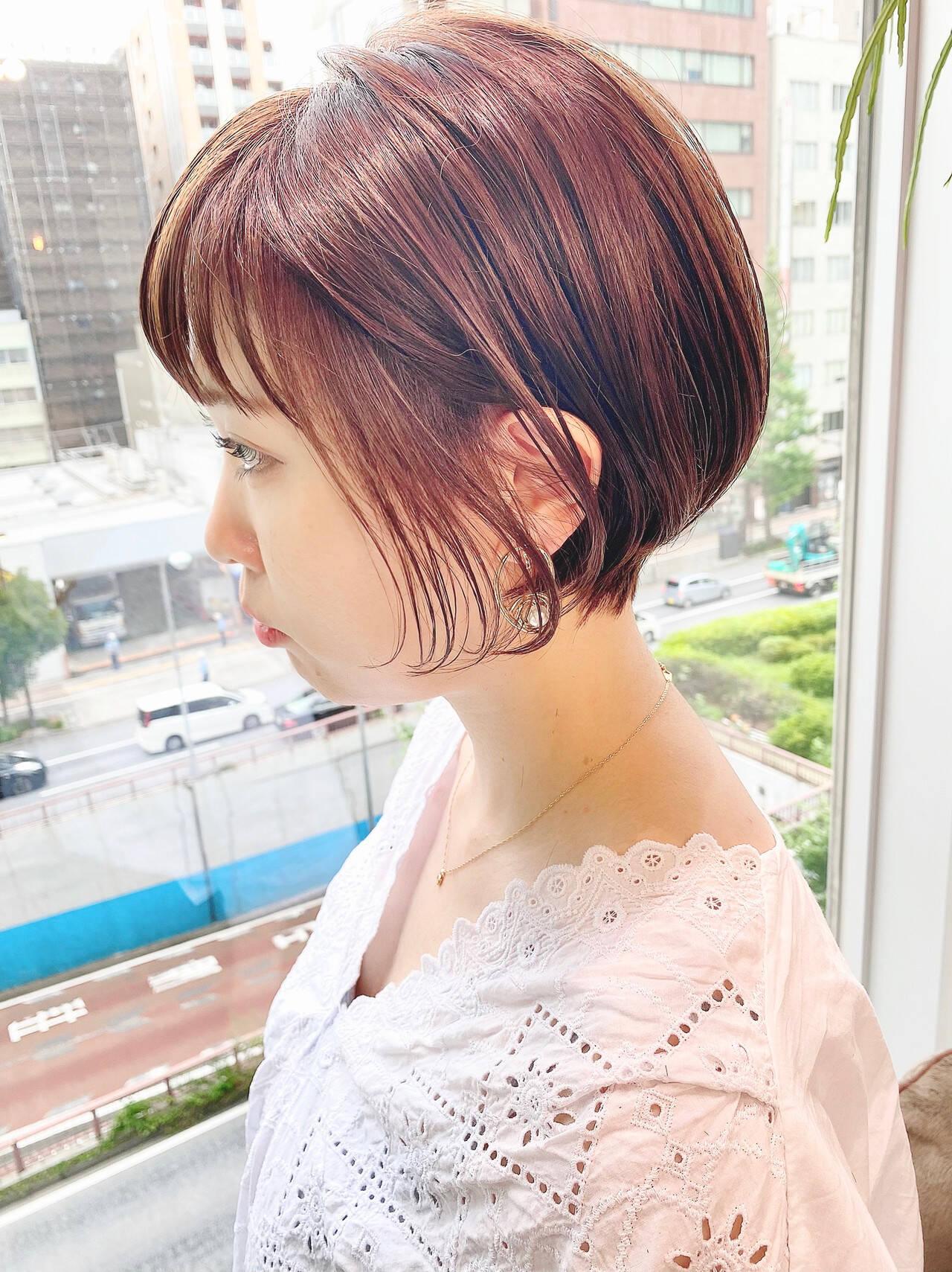 デート オフィス ショート ショートヘアヘアスタイルや髪型の写真・画像