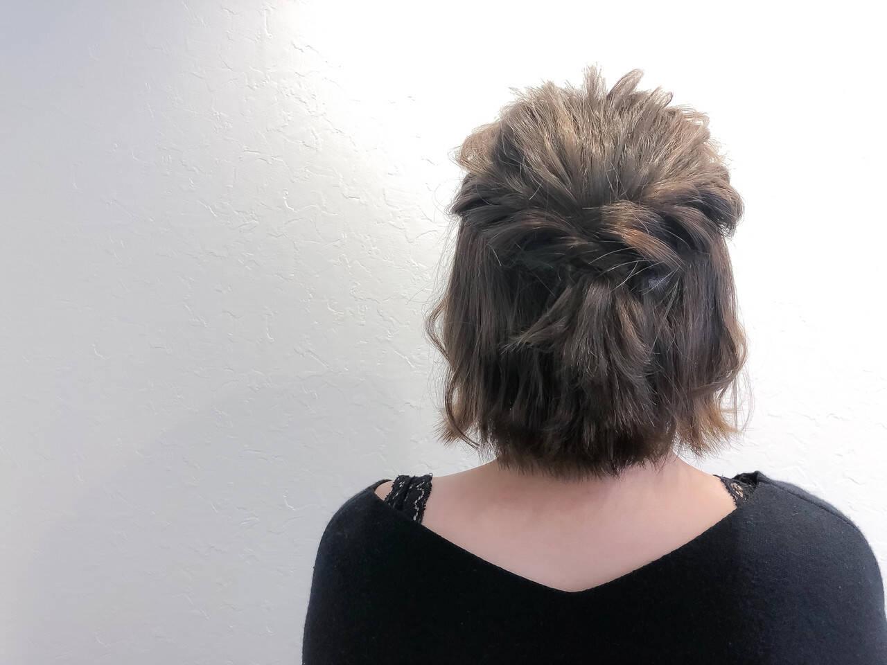 トリートメント 簡単ヘアアレンジ フェミニン ヘアカラーヘアスタイルや髪型の写真・画像