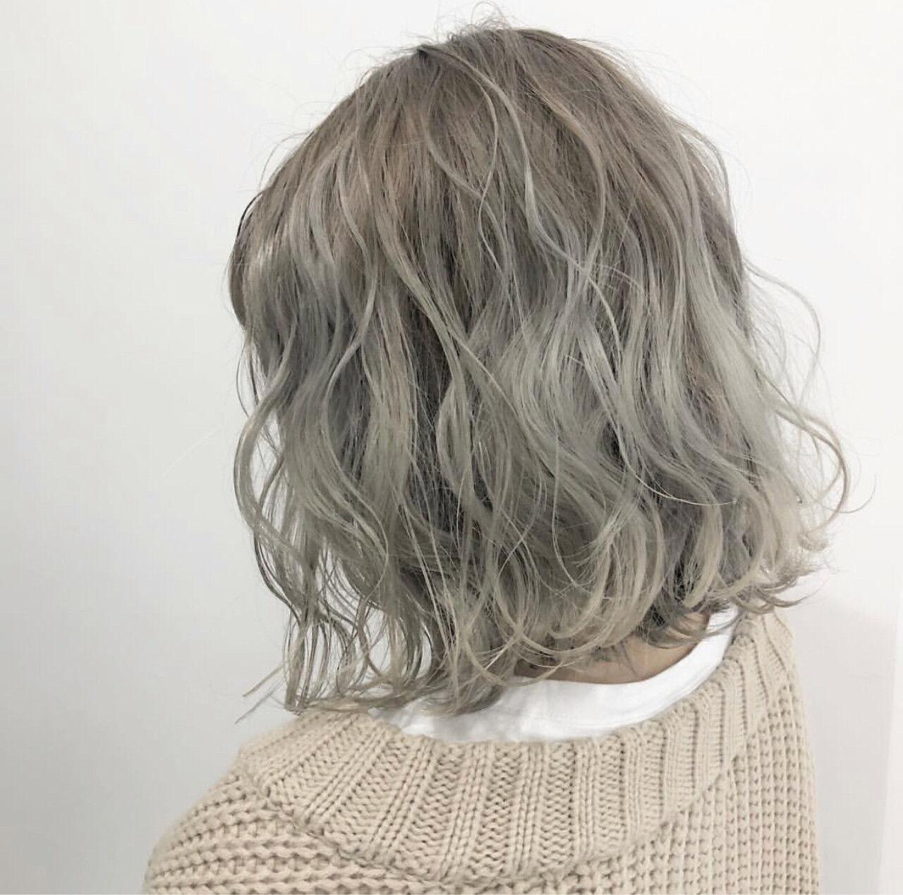 ストリート ラベンダー ボブ 外国人風カラーヘアスタイルや髪型の写真・画像