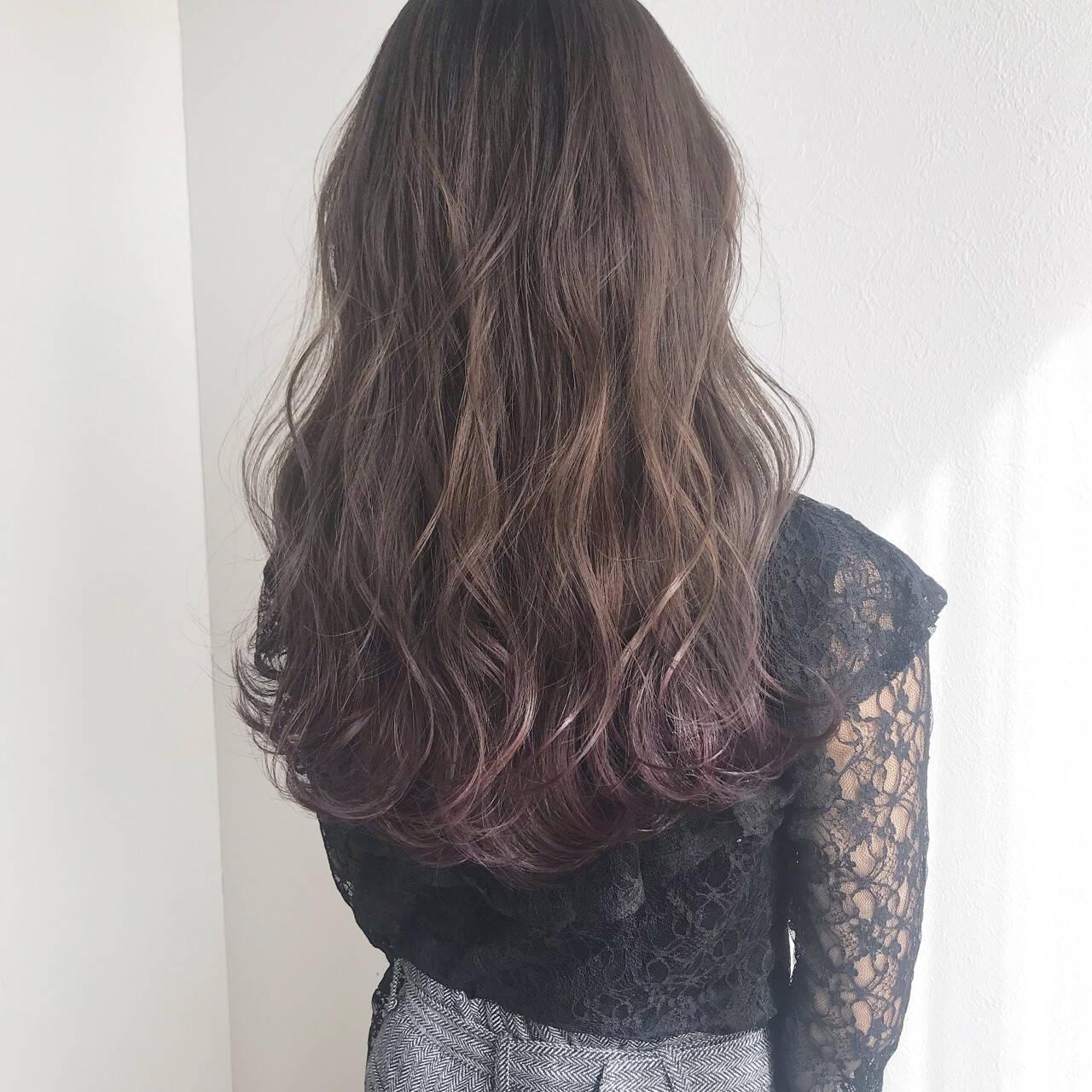 女子力 くすみカラー ナチュラル グレージュヘアスタイルや髪型の写真・画像