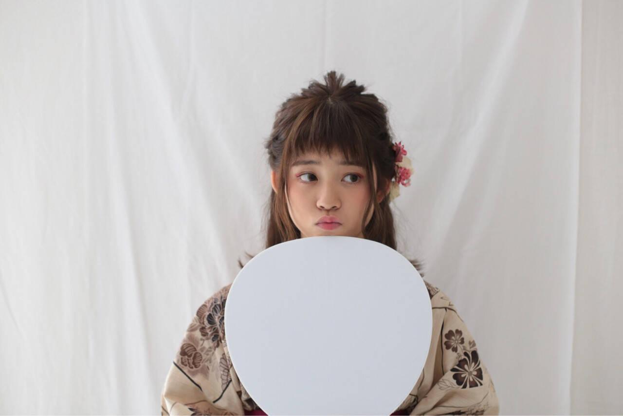 レトロ ミディアム 外ハネ 和装ヘアスタイルや髪型の写真・画像